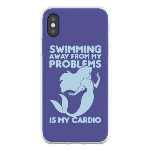 Swimming Away From My Problems Is My Cardio Phone Flexi-Case