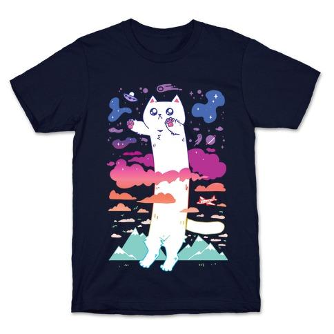 Long Cat Mens/Unisex T-Shirt