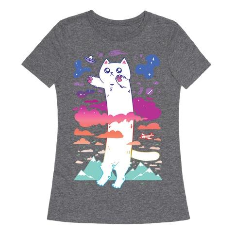 Long Cat Womens T-Shirt