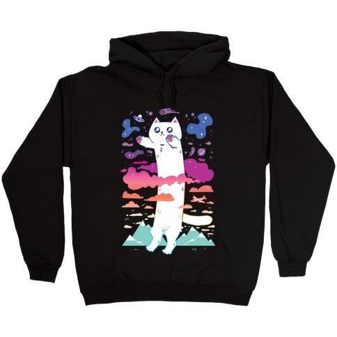 Long Cat Hooded Sweatshirt