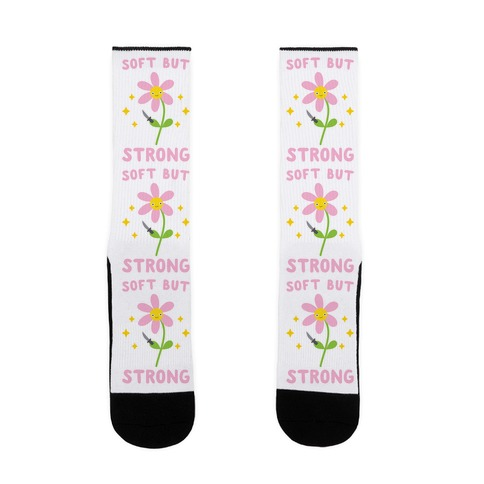 Soft But Strong Flower Sock