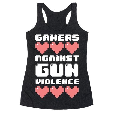 Gamers Against Gun Violence Racerback Tank Top