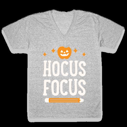 Hocus Focus V-Neck Tee Shirt