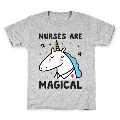 Nurses Are Magical Unicorn Kids T-Shirt