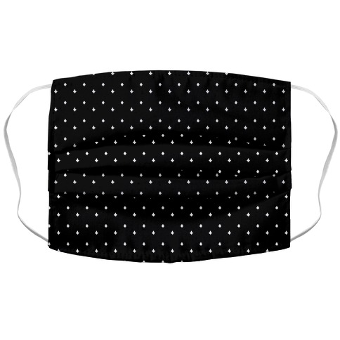 Dainty Stars Pattern Black Accordion Face Mask