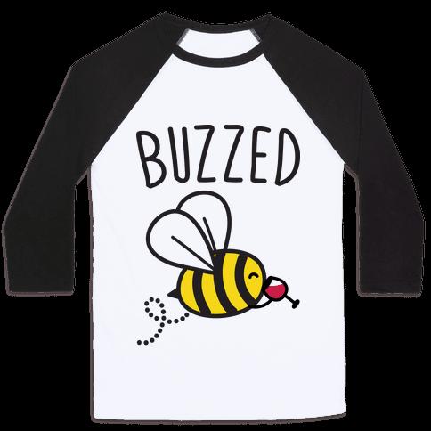 Buzzed Wine Bee Baseball Tee