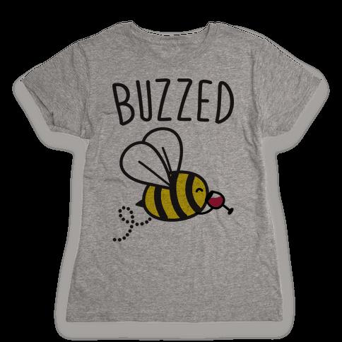 Buzzed Wine Bee Womens T-Shirt