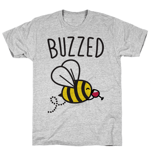 Buzzed Wine Bee Mens T-Shirt