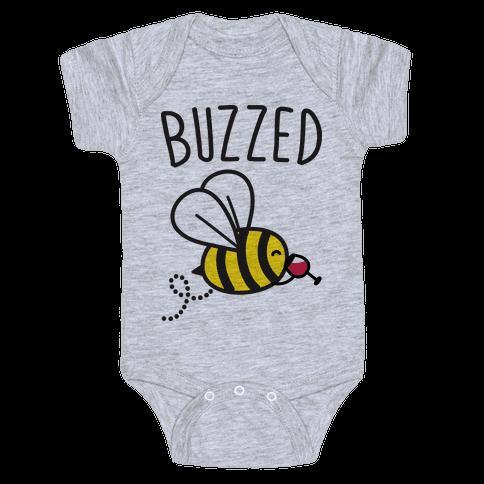 Buzzed Wine Bee Baby Onesy