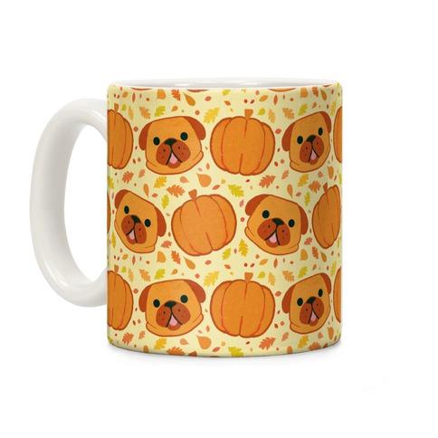 Pug Pumpkin Pattern Coffee Mug
