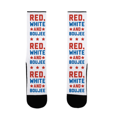 Red White And Boujee Sock