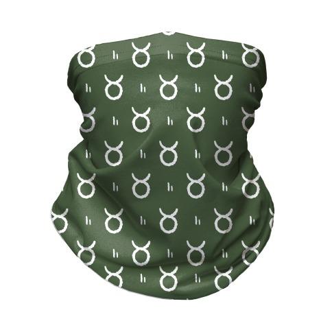 Taurus Symbol Pattern Green Neck Gaiter