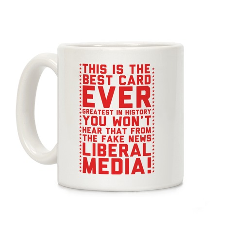 Fake News Liberal Media Coffee Mug