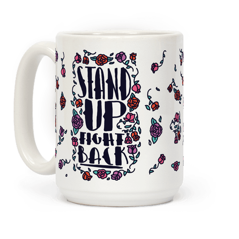 LookHUMAN Warren Peace White 15 Ounce Ceramic Coffee Mug