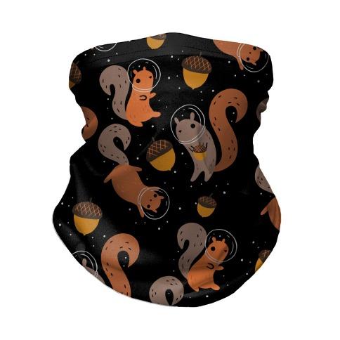 Squirrels In Space Neck Gaiter