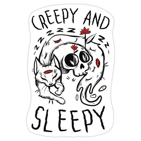 Creepy And Sleepy Die Cut Sticker