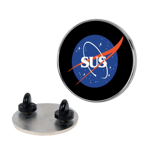 Sus Nasa Logo Parody Pin
