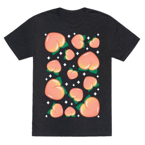 Plump Peaches Pattern T-Shirt