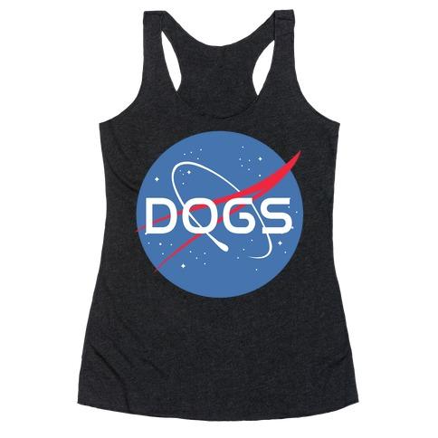 Dogs Nasa Parody Racerback Tank Top