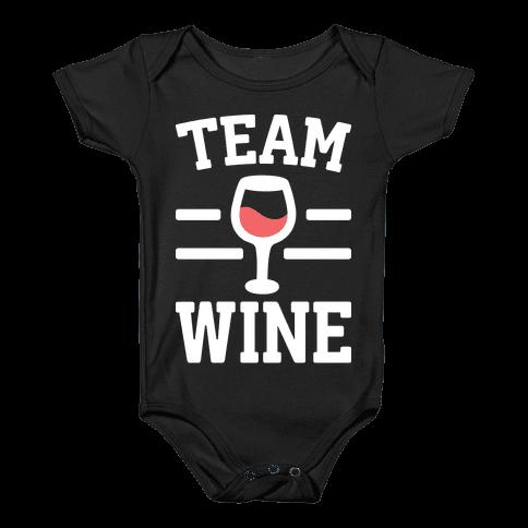 Team Wine Baby Onesy