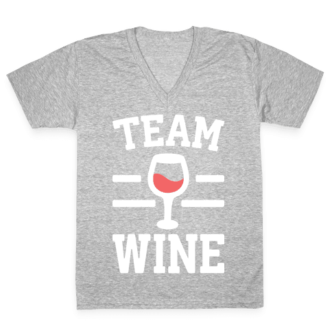 Team Wine V-Neck Tee Shirt