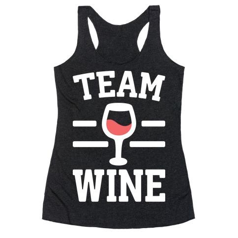Team Wine Racerback Tank Top