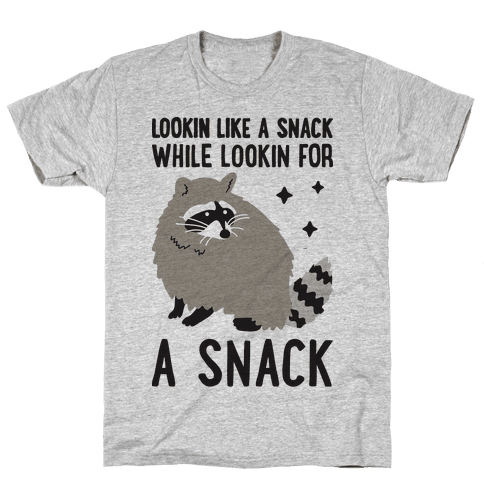 Lookin For A Snack Raccoon Mens T-Shirt