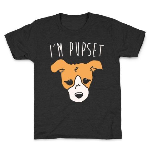 I'm Pupset White Print Kids T-Shirt