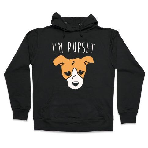 I'm Pupset White Print Hooded Sweatshirt