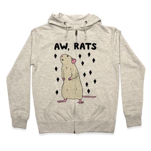 Aw, Rats Zip Hoodie