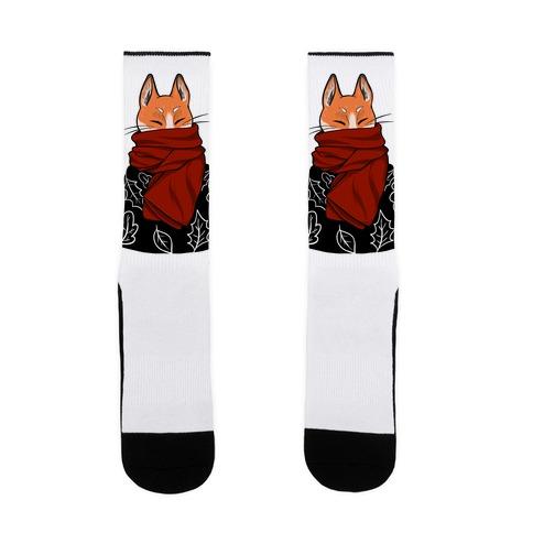 Autumn Fox Sock