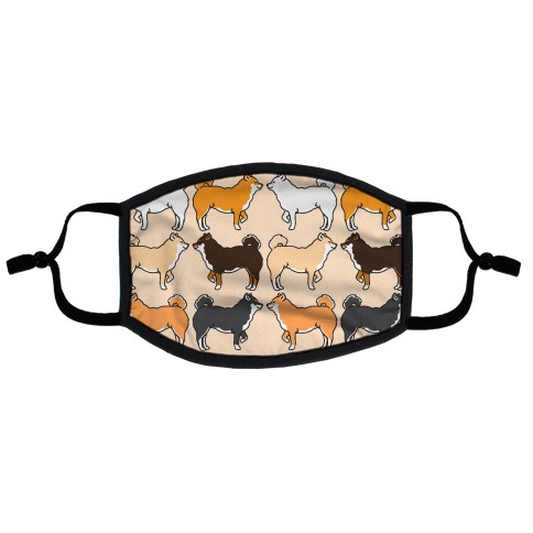 Shades of Shiba Inu Pattern Flat Face Mask