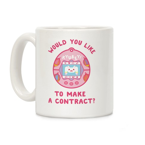 Kyubey Digital Pet Would You Like To Make a Contract? Coffee Mug