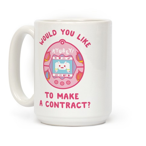 Kyubey Digital Pet Would You Like To Make a Contract? Coffee Mug