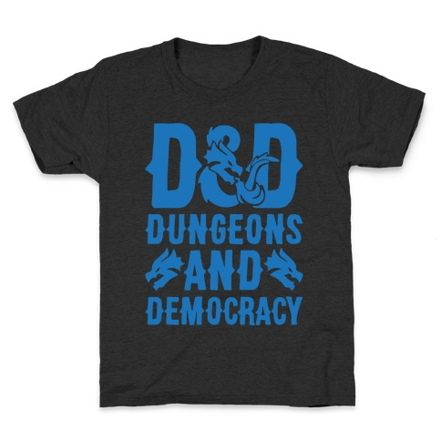 Dungeons and Democracy Parody White Print Kids T-Shirt