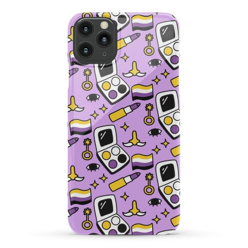 Nonbinary Makeup Pattern Phone Case