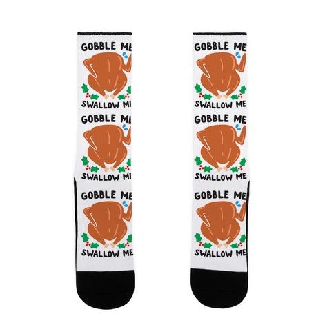 Gobble Me Swallow Me Turkey Sock