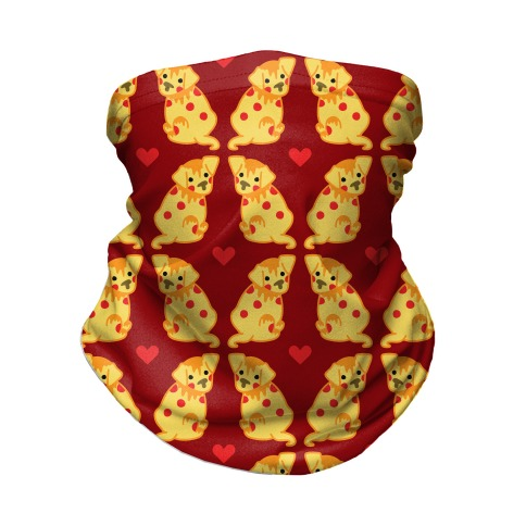 Pizza Puppy Pattern Neck Gaiter
