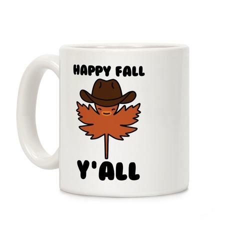 Happy Fall Y'all (Country Leaf) Coffee Mug