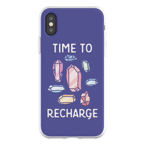 Time To Recharge Phone Flexi-Case