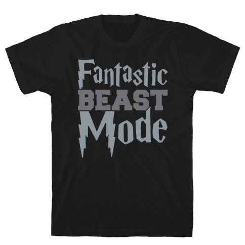 Fantastic Beast Mode Parody White Print Mens T-Shirt