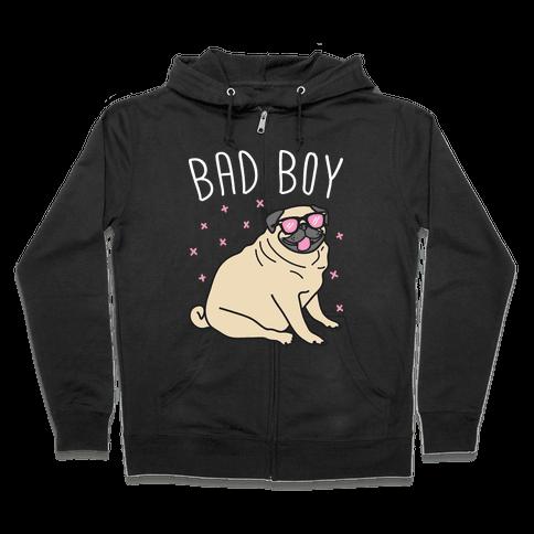 Bad Boy Pug Zip Hoodie