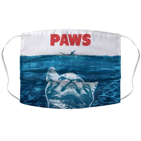 PAWS (Jaws Parody) Face Mask Cover