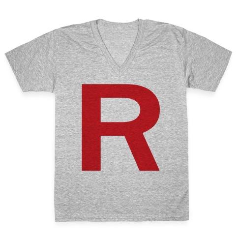 Team Rocket  V-Neck Tee Shirt