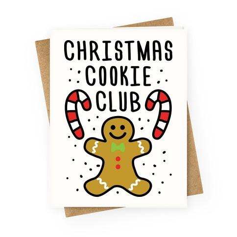 Christmas Cookie Club Greeting Card