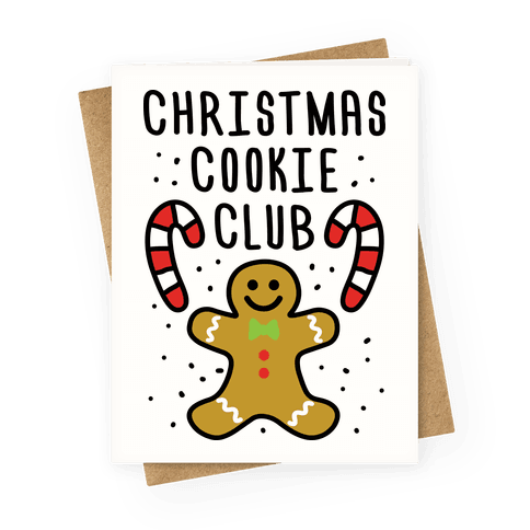 Christmas Cookie Club Greeting Card