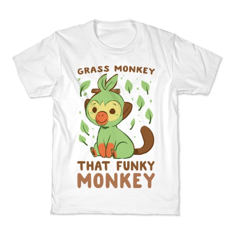 Grass Monkey, That Funky Monkey - Grookey Kids T-Shirt