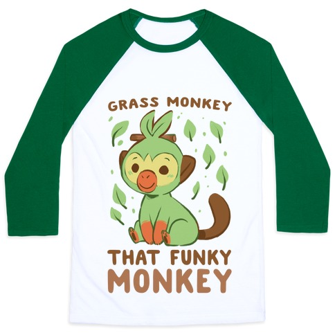 Grass Monkey, That Funky Monkey - Grookey Baseball Tee