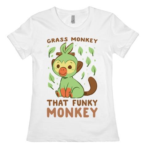 Grass Monkey, That Funky Monkey - Grookey Womens T-Shirt