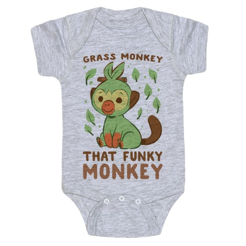 Grass Monkey, That Funky Monkey - Grookey Baby Onesy